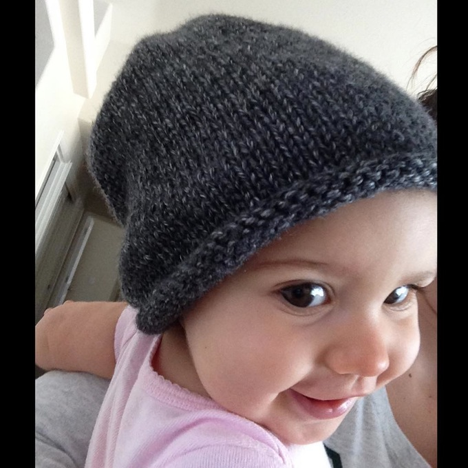 Auction Item: 6-12 month Baby Slouchy Hat. I Retail:$16. IG Handle: @happyeverafter.knits Webiste: happyeverafterknits.bigcartel.com Auctioned on IG