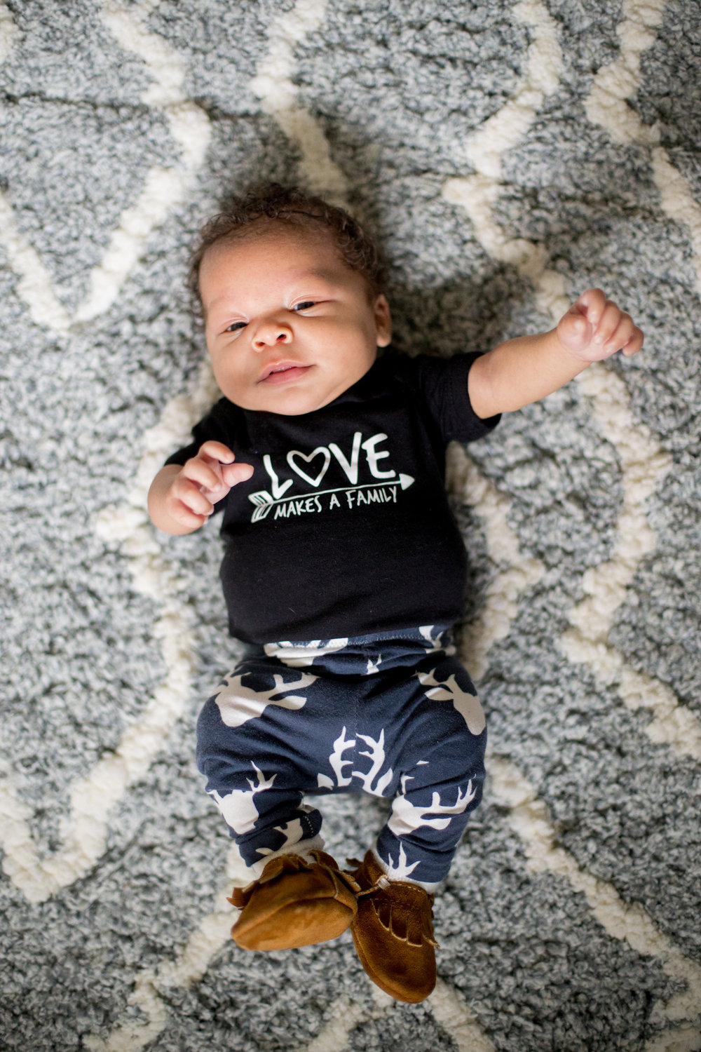 love makes a family, adoption onesie
