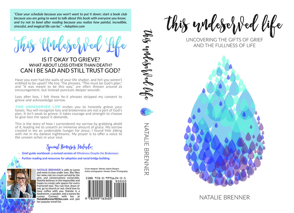 natalie brenner, author, portland oregon, this undeserved life