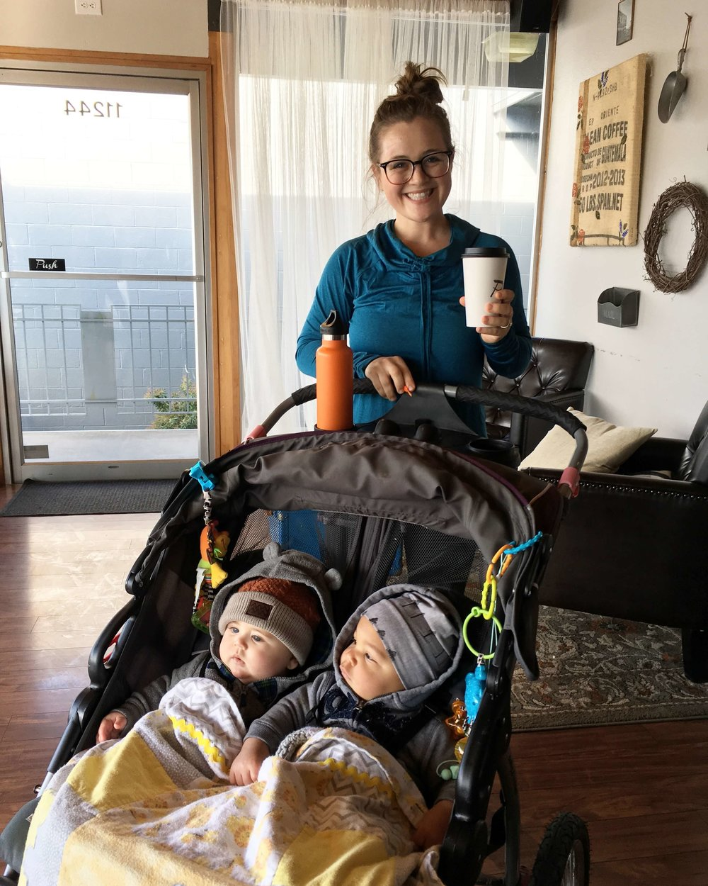 baby trend, double stroller, twins