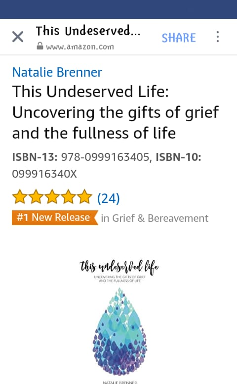 best books on grief and bereavement, this undeserved life, best grief book, miscarriage book