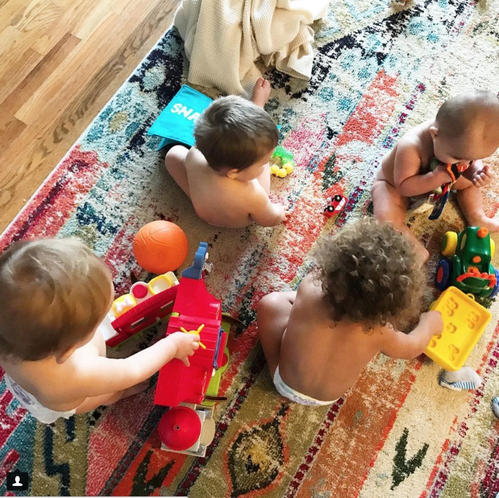 triplets, virtual triplets, quadrouplets, four kids under two years