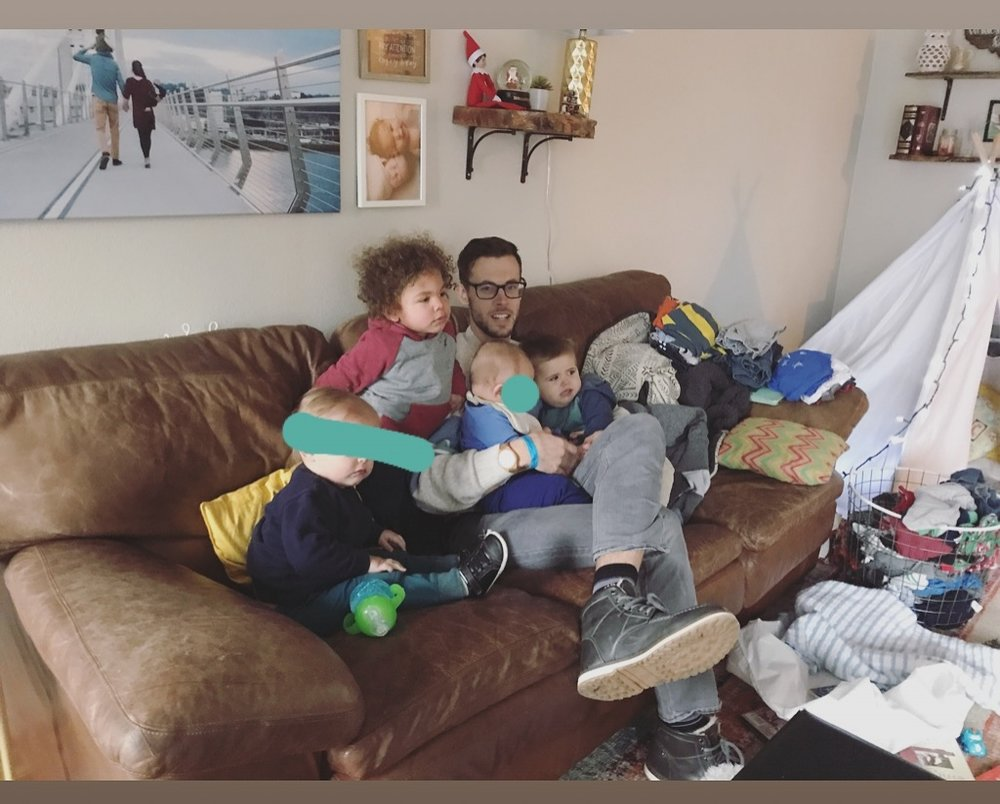 four kids under two years old