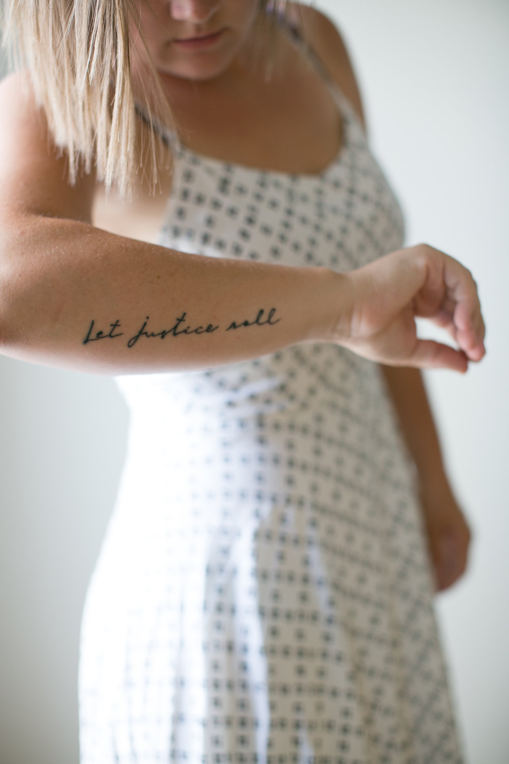 let justice roll tattoo script tattoo