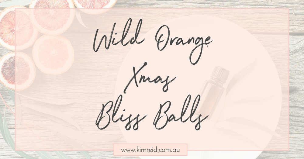 Wild Orange Bliss Balls