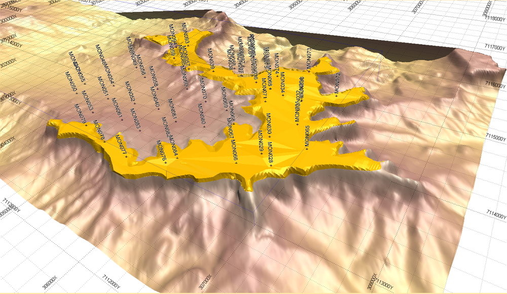 MONOGORILBY BAUXITE PLATEAU MODEL FROM RESOURCE ESTIMATION