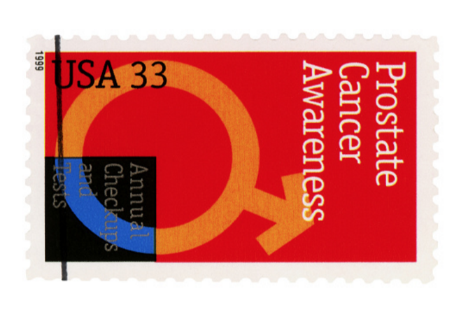 prostate cancer awareness collectable stamp