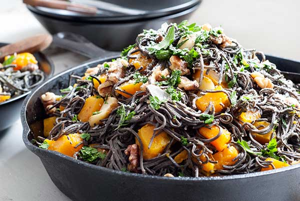 Blackbean pasta makes a great substitute for spaghetti and asian noodles.
