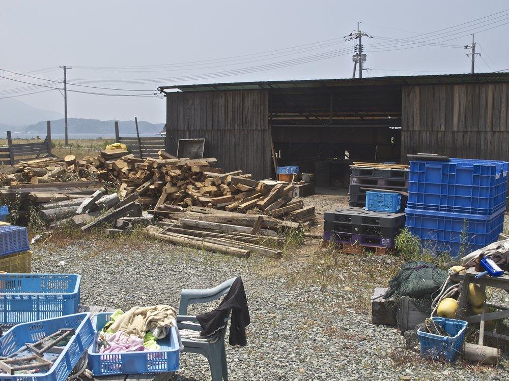 Hamada Moshio salt workshop.