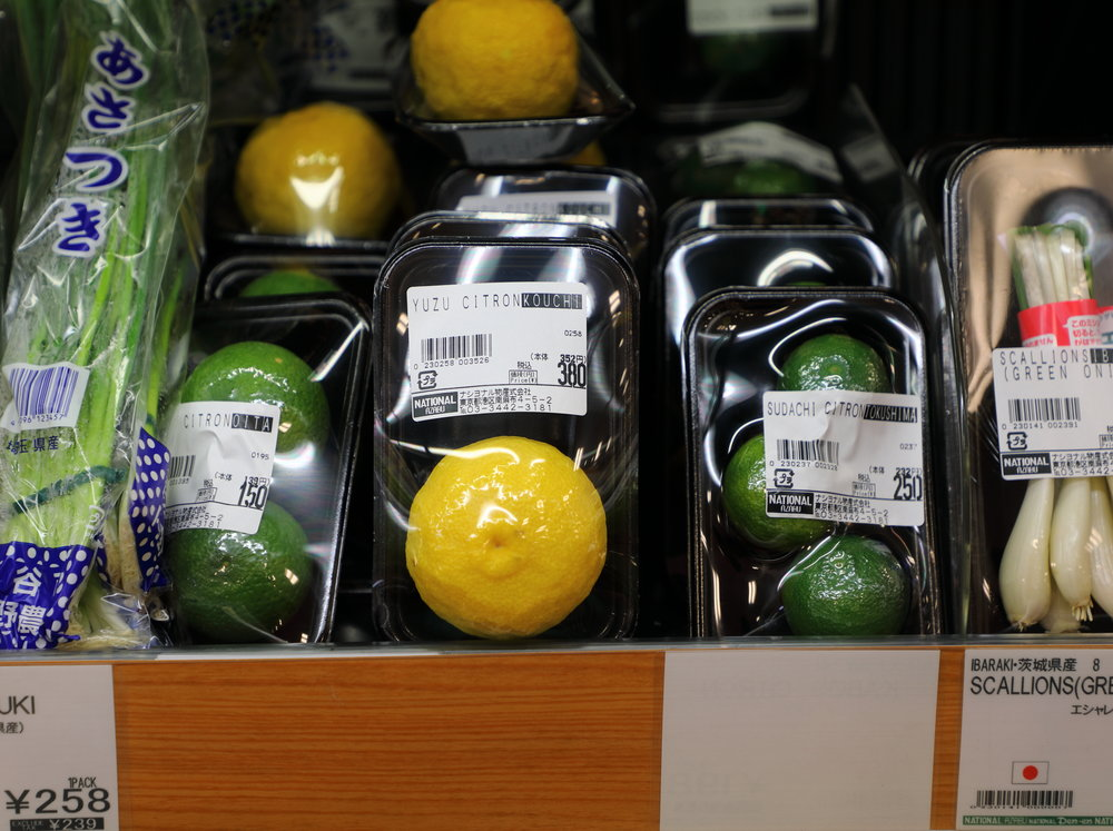 The seasoning citrus mainstays of the Japanese pantry— kabosu ,  yuzu , and  sudachi —can be found in the fresh herb and spice section of supermarkets across the country.