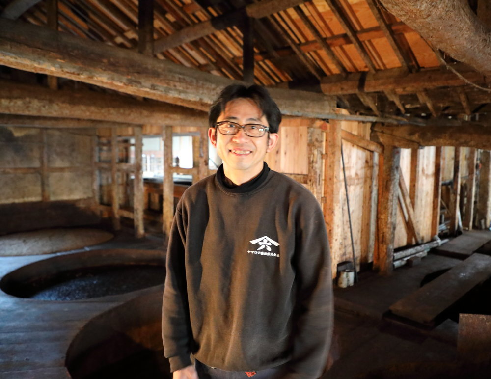 Yasuo Yamamoto, the fifh generation maker of Yamaroku soy sauce, in his brewery.
