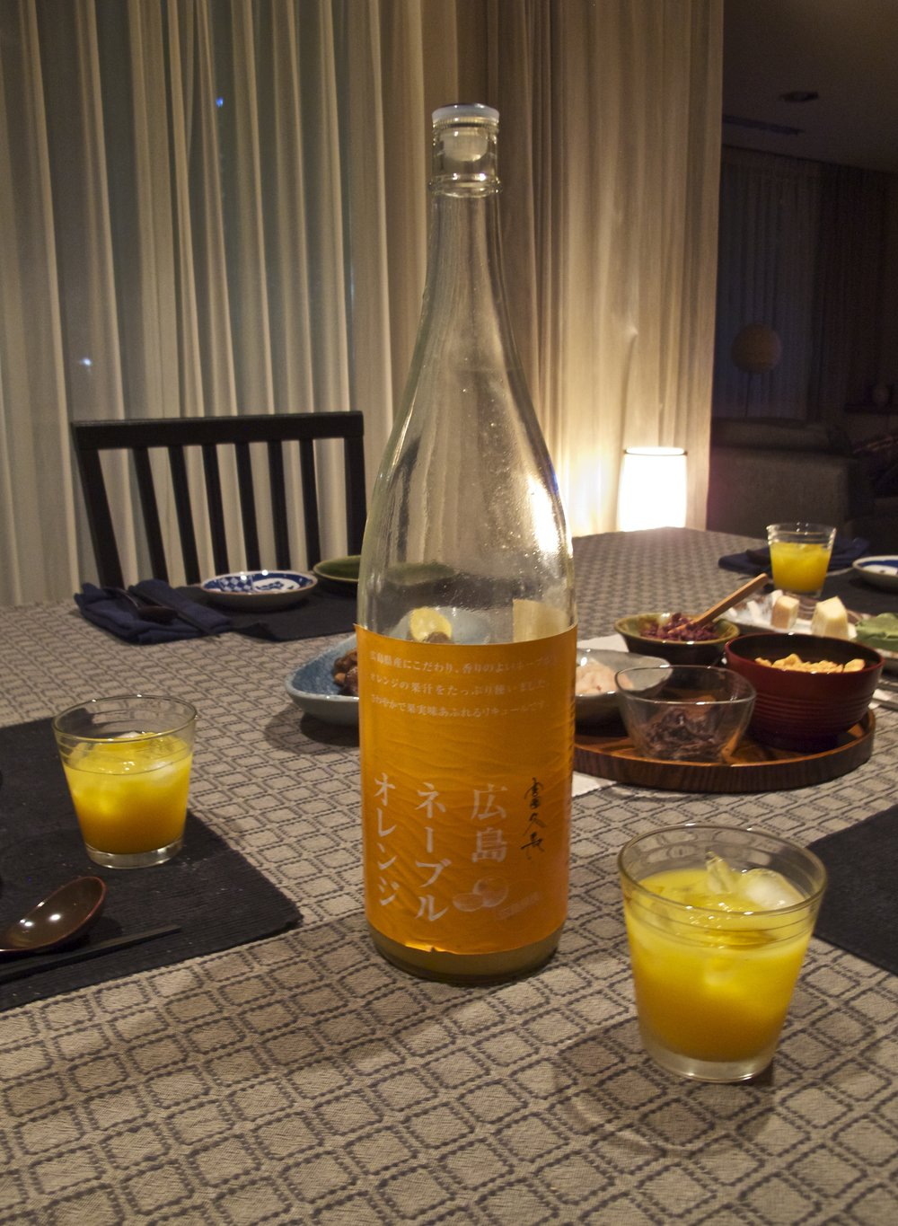 "The all-natural citric acidity of Imada Shuzo's ""Hiroshima Navel Orange"" sake makes it a healthy and refreshingly delicious drink that stimulates the appetite."