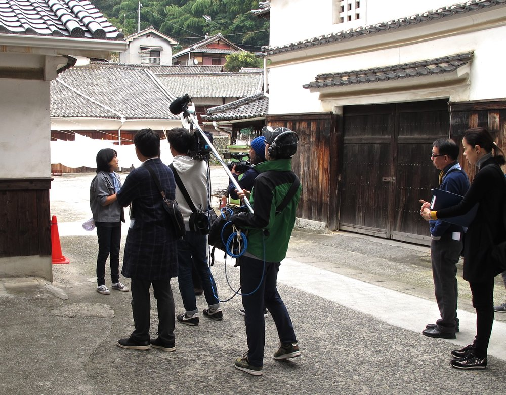 "Miho is often featured in documentaries like the one being filmed here by NHK, Japan's public broadcasting station, about innovative artisanal food makers in the Seto Inland Sea area. She was also in the 2018 documentary film ""Kampai! Sake Sisters."""