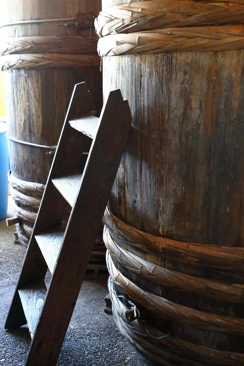 The deep, rich-tasing  Okedoko no Chikara   so-su  that comes from the bottom of the large  kioke  wooden fermentation barrels is a foundation sauce one can use to create your own delicious sauces.
