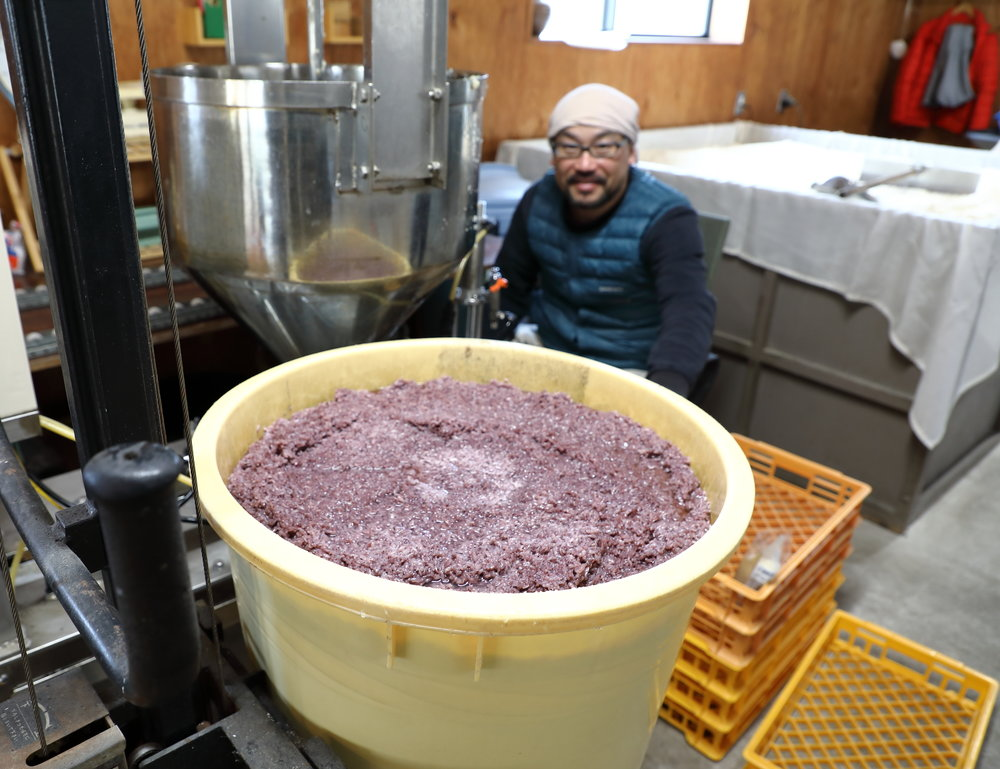 Fumiaki Making Black Rice Amazake