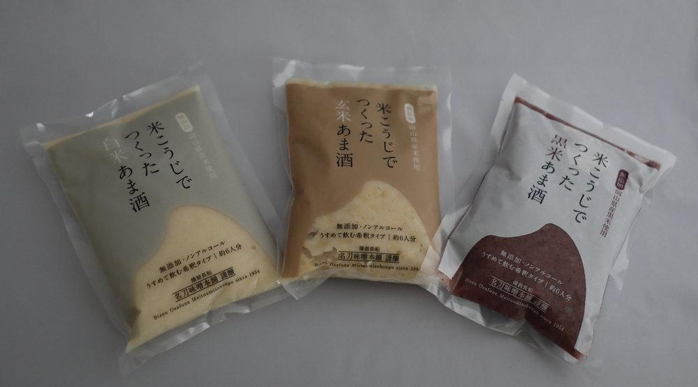 Meitou's White, Brown & Black Rice Amazake