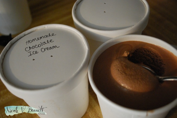 homemade chocolate ice cream