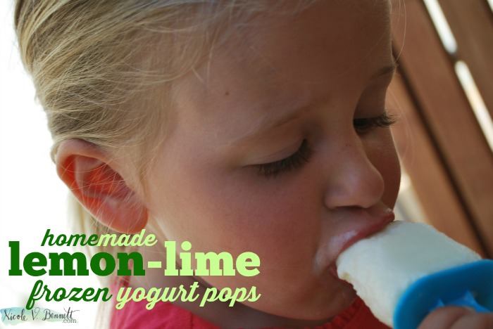 homemade lemon-lime frozen yogurt pops
