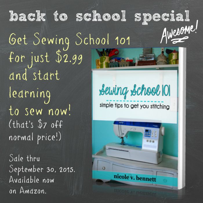 sewing school sale