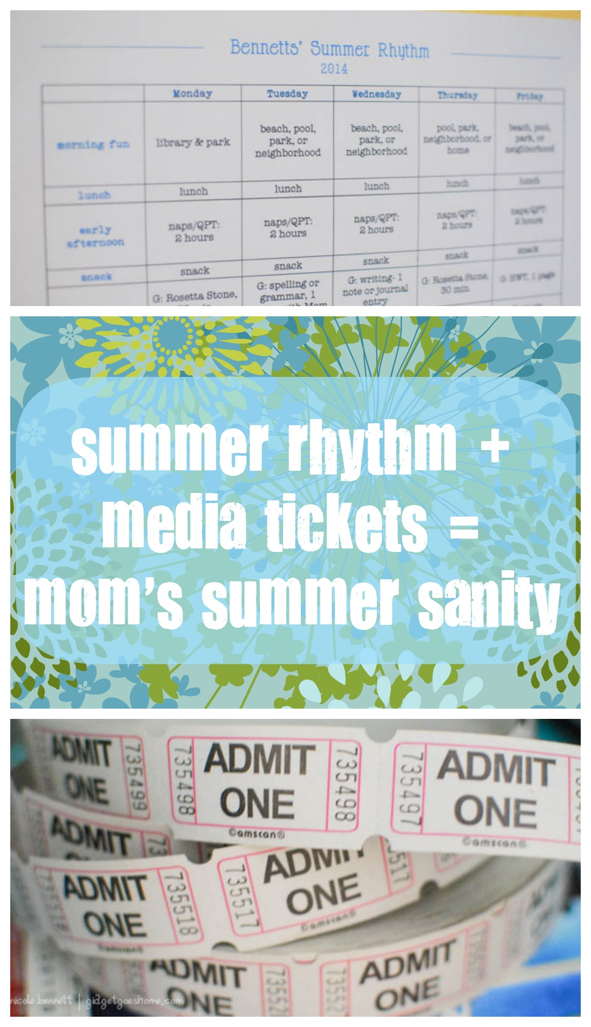 summer sanity with a rhythm and media tickets