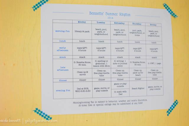 summer schedule-1