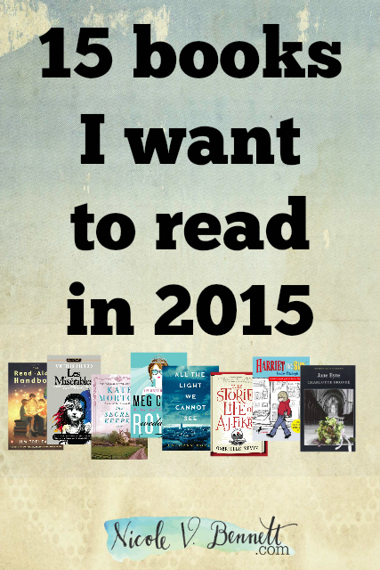 15 books I want to read in 2015