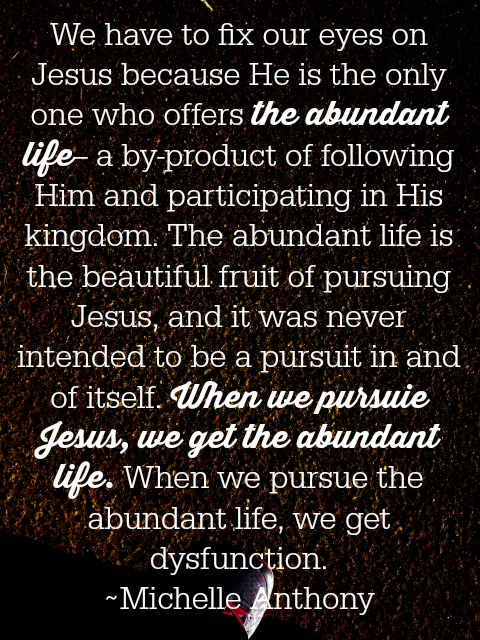 the abundant life- Becoming a Spiritually Healthy Family