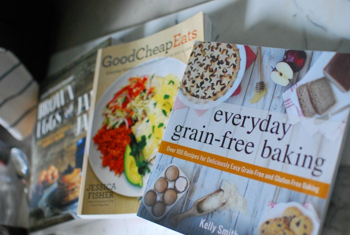 everyday grain-free baking and 2 more cookbooks