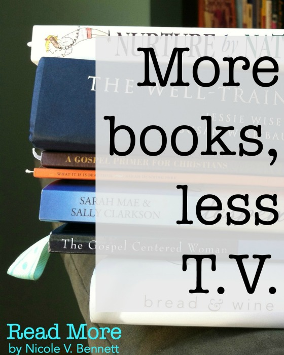 more books, less t.v.