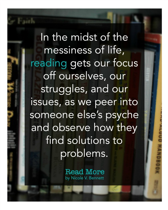 reading gets our focus off ourselves