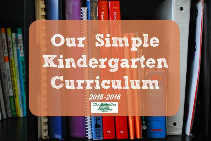 our simple kindergarten curriculum (pre-k friendly)