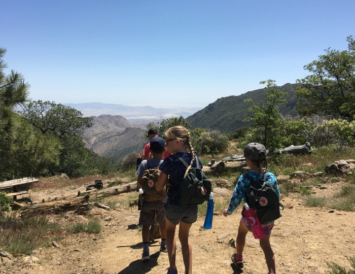 kids exploring pacific crest trail