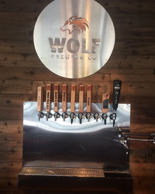 Our tap handle is in good company amongst the greats at wolf brewing co tasting room in Nanaimo.  #guthealth #saltspringkombucha