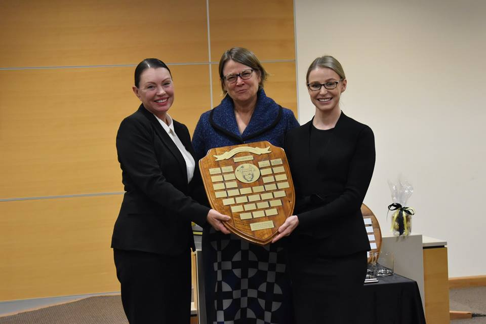 From left to right: Patricia Petersen, Her Honour Justice Dalton and Karell Schmitt-Virgo