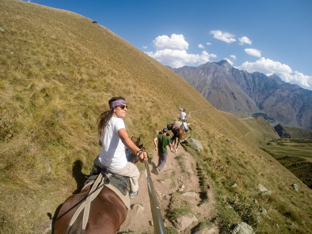 Horseback Riding in Kazbegi, Georgia