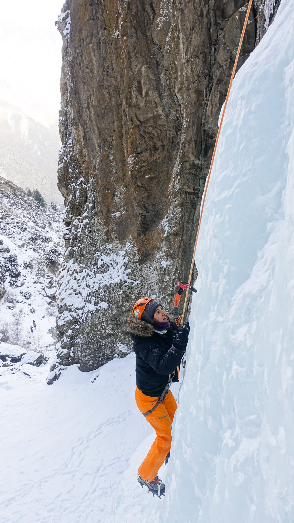 Ice climbing in Georgia