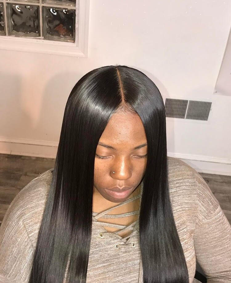 THIS IS THE GOAL! This is a closure from celebrity stylist cliffvmir. Once installed, your closure should look very close to this.