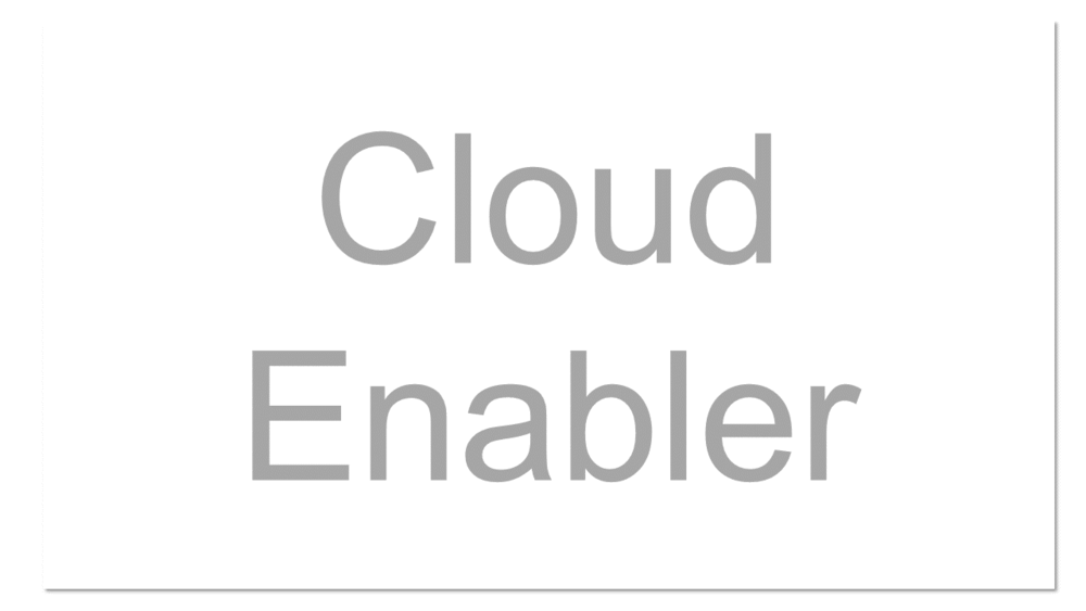 A general term that refers to organizations (typical vendors) who are not cloud providers per se, but make available technology or service that enables a client or other vendor to take advantage of cloud computing.