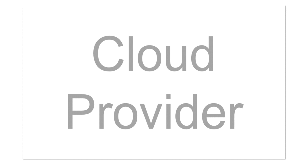 A company that provides cloud-based platform, infrastructure, application, or storage services to other organizations and/or individuals, usually for a fee.