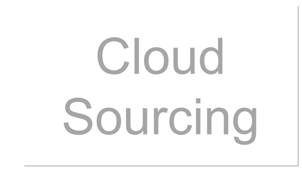 Outsourcing storage or taking advantage of some other type of cloud service.