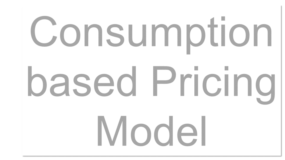 A pricing model whereby the service provider charges its customers based on the amount of the service the customer consumes, rather than a time-based fee. For example, a cloud storage provider might charge per gigabyte of information stored. See alos Subscription-based pricing model.