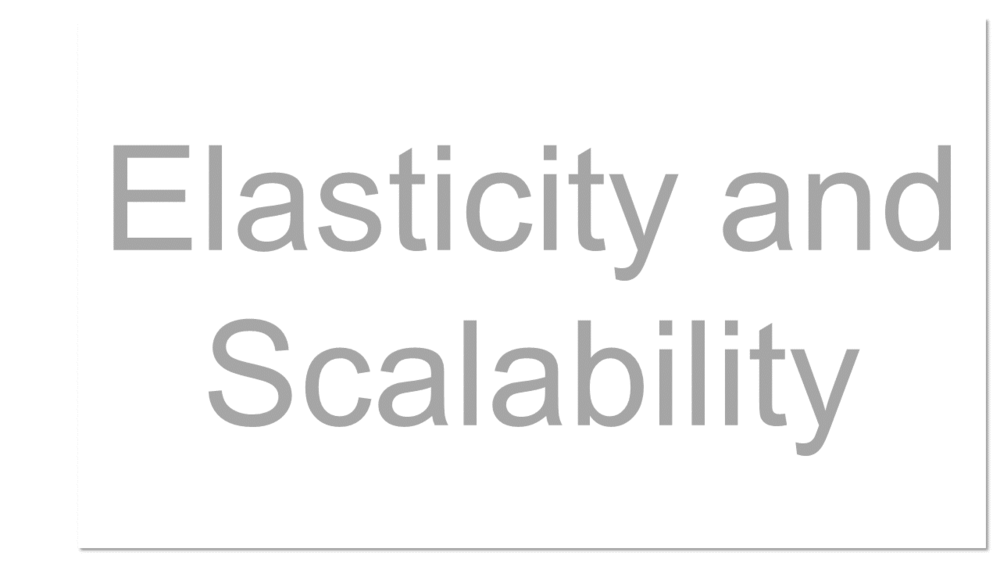 The cloud is elastic, meaning that resource allocations can get bigger or smaller depending on demand. Elasticity enables scalability, which means that the cloud can scale upward for peak demand and downward for lighter demand. Scalability also means that an application can scale when adding users and when application requirements change.