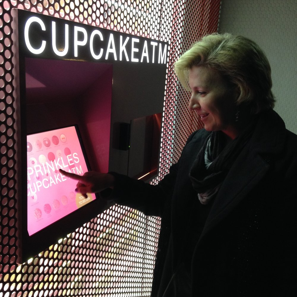 Buy a cupcake from a vending machine in Beverly Hills.