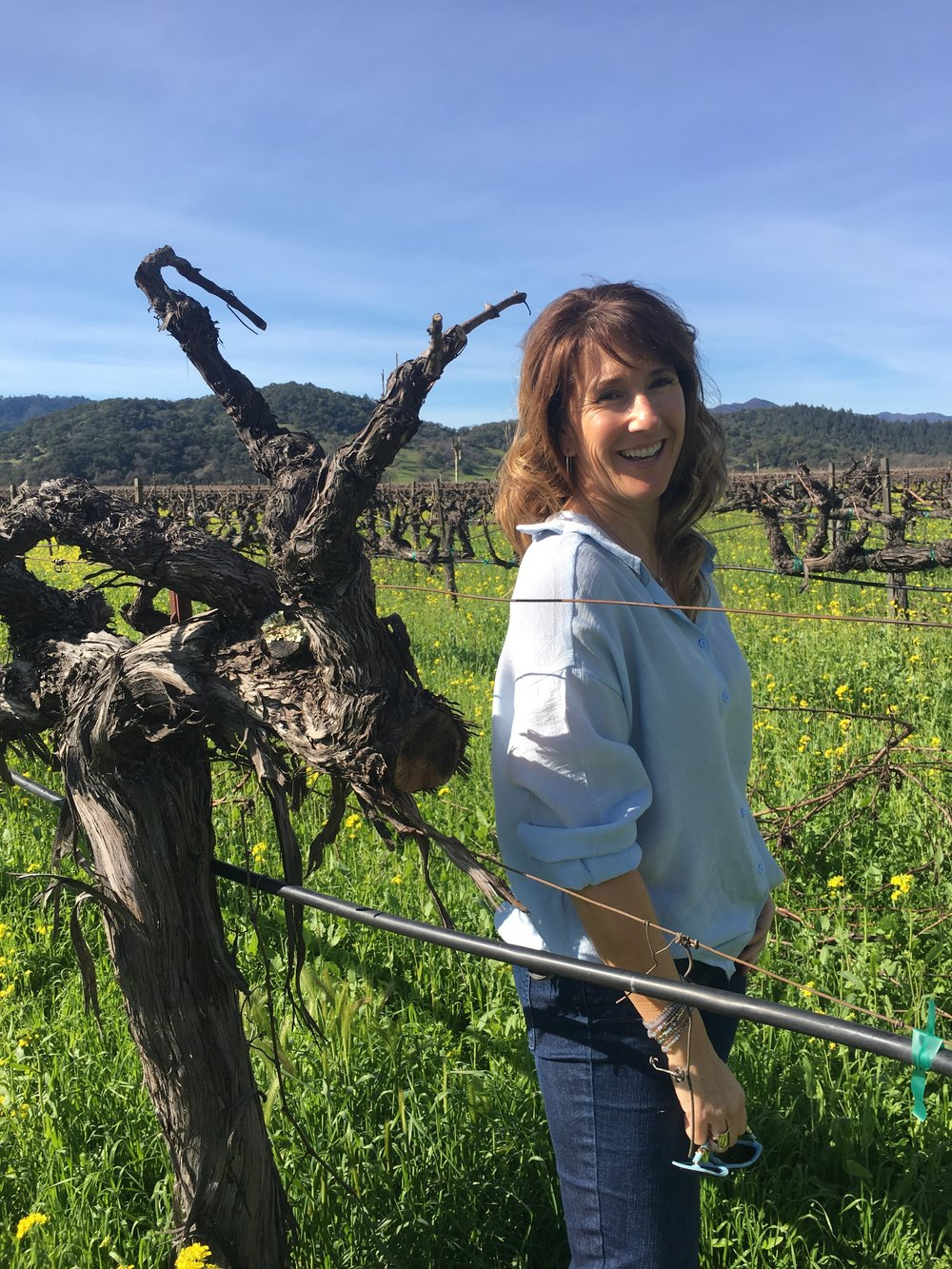 Co-founder LIzann Grupalo in NapaValley_Stags Leap District vineyard.jpeg