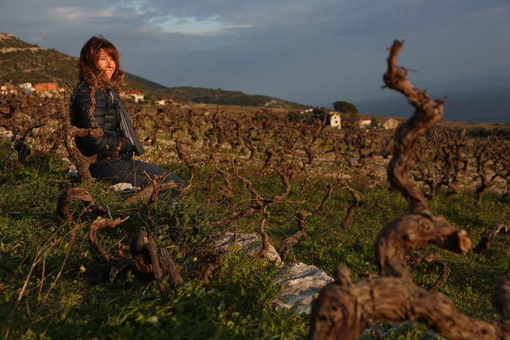 Co-founder Lizann Grupalo, Vineyards in Postup, Peljesac Peninsula_March 2018.JPG