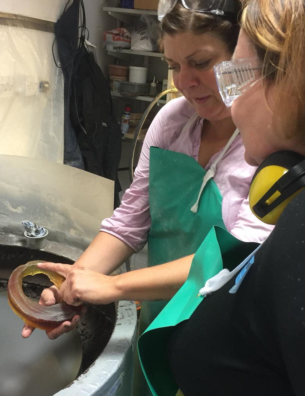 Coldworking finishing course | Angela Jarman | Studio Glass Artist | Hertfordshire, UK