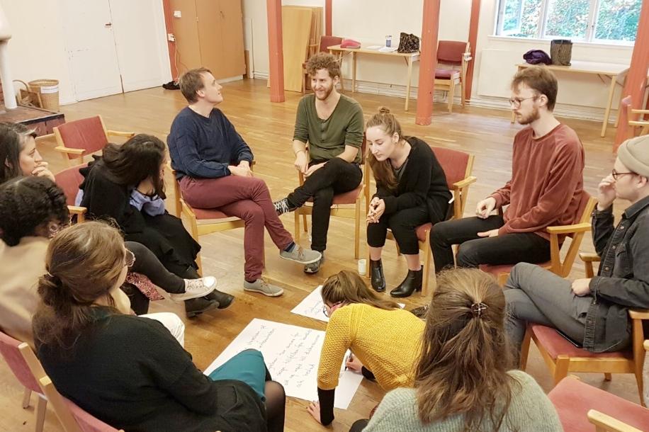 Personal på LSU i samtal om förväntningar och behov, på en av våra workshops om en hållbar arbetsmiljö.
