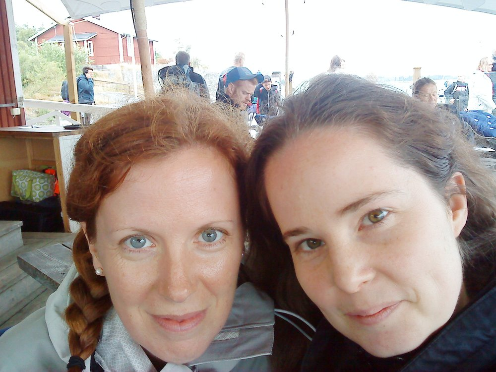 Therese Hagstedt and me, summer of 2012 or so.