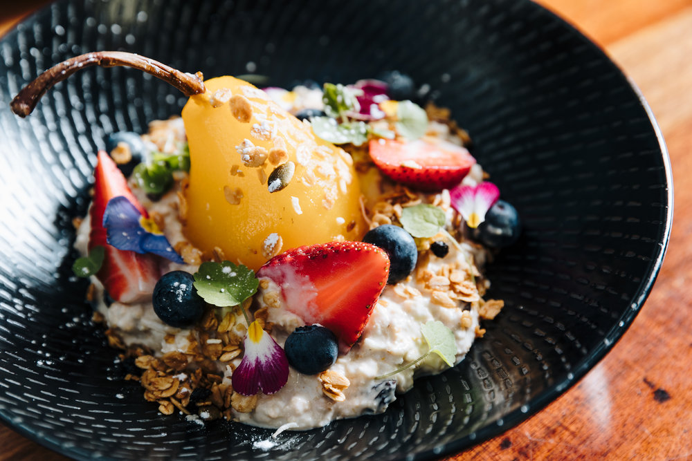 Poached Pear Bircher