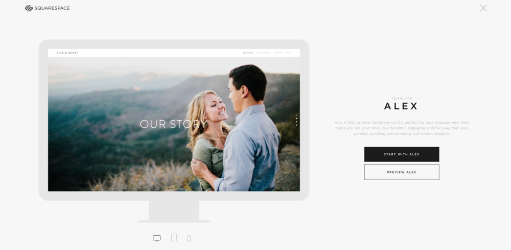 An example template from Squarespace's marvelous selection.